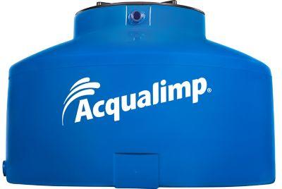 Caixa De Água 310L Polietileno Água Protegida Tampa Rosca Azul