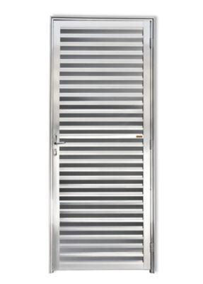 Porta Veneziana Alumínio Brilhante Esquerda 210x80x4,6cm L 25