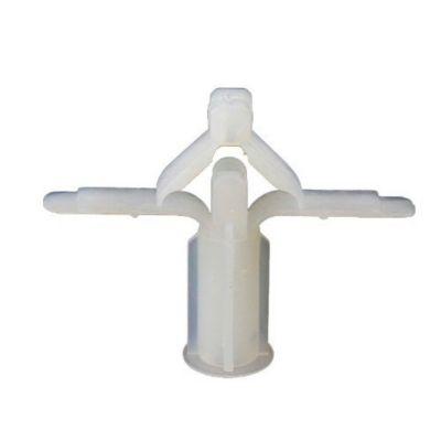 Bucha Fly n2 para Placa de Gesso 4-16mm 250 Peças Branco