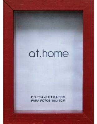 Porta Retrato Caixa Liso 10x15cm Vermelho