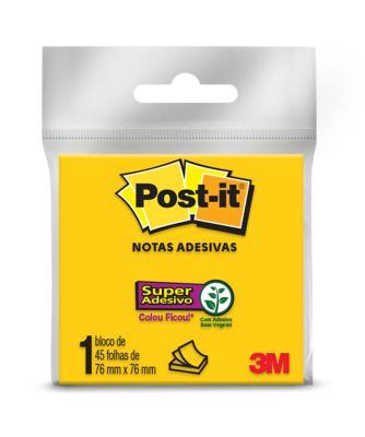 Bloco Adesivo Post-It 76x76cm com 45 Folhas Amarelo