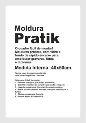 Moldura Prática Premier 40x50cm Branco
