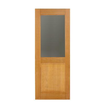 Folha de Porta Madeira Macica Tauari Natual 210x82x3,5cm Monaco Wood Glass