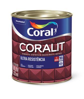 Esmalte Sintético Ouro 225ml Coralit Premium para Madeiras e Metais