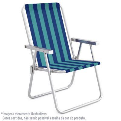 Cadeira de Praia Alta Conforto Alumínio Sortido