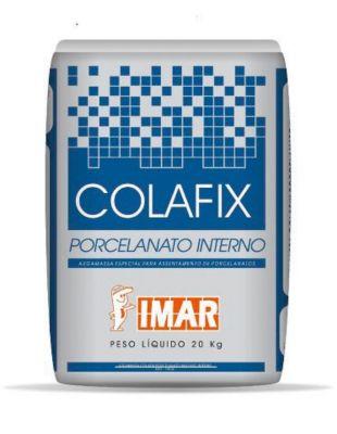 Argamassa para Porcelanato Interno Imar Colafix Cinza 20Kg