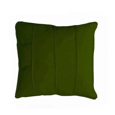 Almofada de Veludo Canelado Frisos 42x42cm Verde