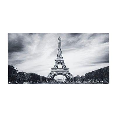 Quadro Paris Estampado 55x110cm Preto e Branco
