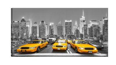 Quadro Nova York Táxis Estampado 55x110cm