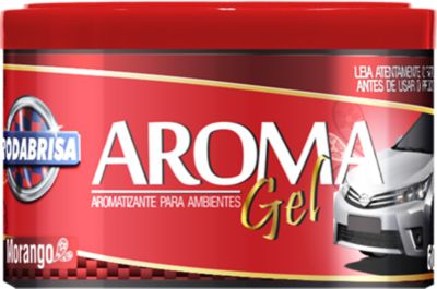 Aroma Veicular em Gel RodaBrisa  Morango 60gr