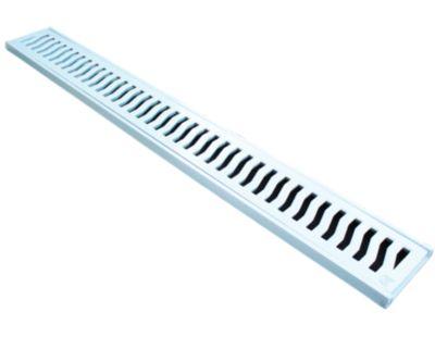 Conjunto Grelha / Porta Grelha Leve Grelha Alumínio Branco 10X100Cm
