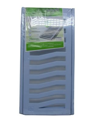 Conjunto Grelha / Porta Grelha Leve Grelha Alumínio Branco 15X30Cm