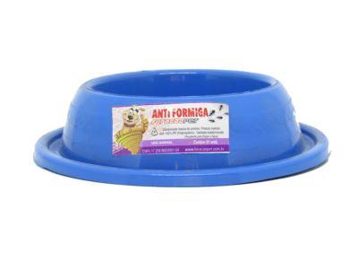 Comedouro de Plástico para Gato Anti-Formiga Azul