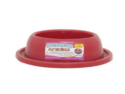 Comedouro de Plástico para Gato Anti-Formiga Vermelho