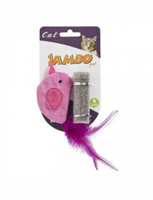 Brinquedo Bird Catnip Tube Rosa