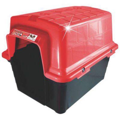 Casinha de Plástico para Cães n3 Vermelho