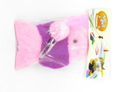 Brinquedo Peixinho para Gato 23x15cm Rosa