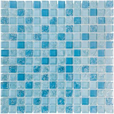 Pastilha de Vidro Smart Ice 28,3x28,3cm Azul Claro