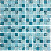Pastilha de Vidro Smart Ice 28,3x28,3cm Azul