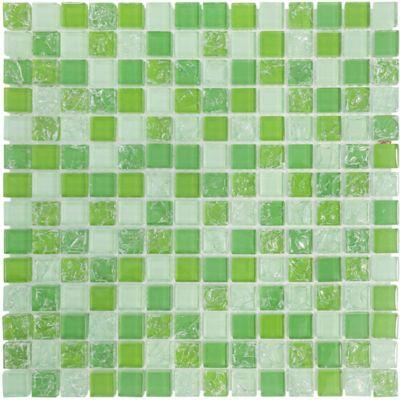 Pastilhas de Vidro Smart Ice 08 Placa 30x30cm Verde
