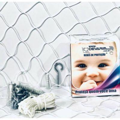 Rede de Proteção Galvanizada para Sacada 800x220cm Cristal