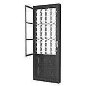 Porta Postigo de Aço Direito 215x83cm Cinza