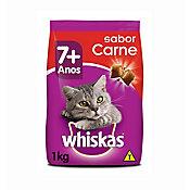Ração Seca para Gatos Adultos 7+ Sabor Carne 1Kg