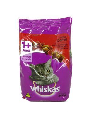 Ração Seca Dry para Gatos Adultos Sabor Carne 500g