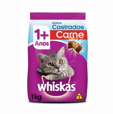 Ração Seca para Gatos Castrados Sabor Carne 1Kg