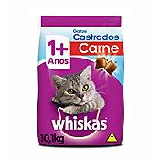 Ração Seca Dry para Gatos Adultos Castrados Sabor Carne 10Kg