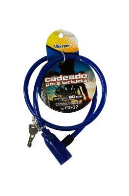 Cadeado Flexível para Bike 80cm Azul