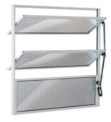 Janela Basculante 2 Basc Alumínio Branco 60x60x2,5cm Ecosul