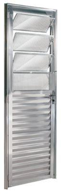 Porta Basculante Alumínio Brilhante Esquerda 210x80x5cm Ecosul