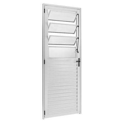 Porta Basculante Alumínio Branco Direita 210x80x5cm Ecosul
