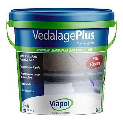 Impermeabilizante Vedalage Plus 12Kg Concreto