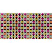 Tapete Tropical Retrô Fluor 43x1,30cm Colorido