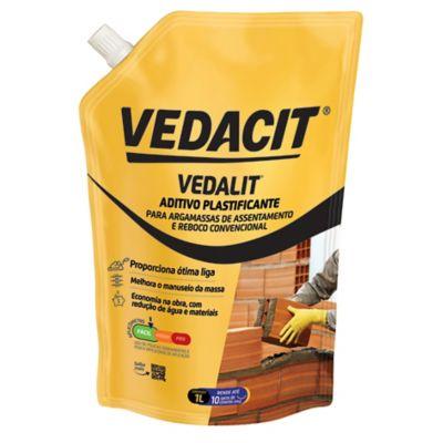 Aditivo Plastificante Vedalit 1L Marrom