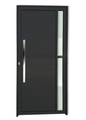 Porta Lambri e Visor Alumínio Preto Esquerda 210x120x4,6cm Super 25 Visione