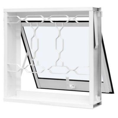 Janela Maxim-ar Aço Branco Corrente 60x60x12cm Qualitysol