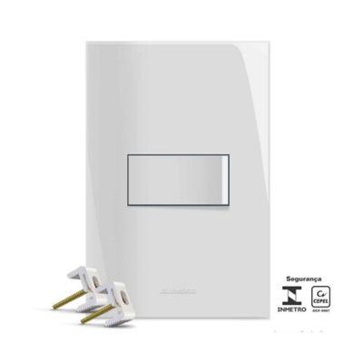 Conjunto Interruptor Simples 4x2 10A Branco Inova