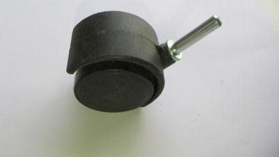 Rodízio 50mm 45Kg Pino 7mm 1 Peça Preto