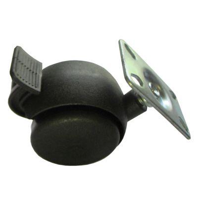 Rodízio Chapa 01 Peça 45Kg 50mm Preto