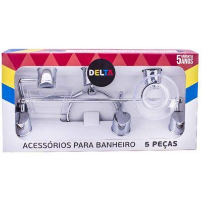 Kit para Banheiro Delta Cromado