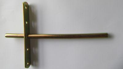 Suporte para Prateleira Invisível T 250mm Dourado