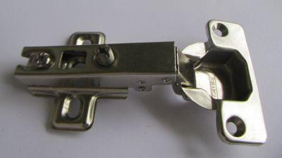 Dobradiça de Pressão Reta 35mm com 6 Peças Zincado