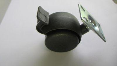 Rodízio Chapa 50mm 01 Peça 20Kg 38mm Preto