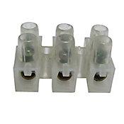 Conector Múltiplo 3 Polos 1 Peça 6mm Transparente