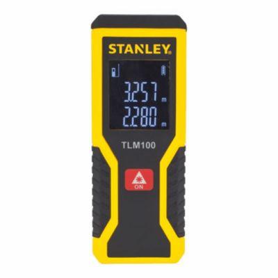 Trena Laser com Leitura de até 30m TLM100 STHT77410 Preto e Amarelo