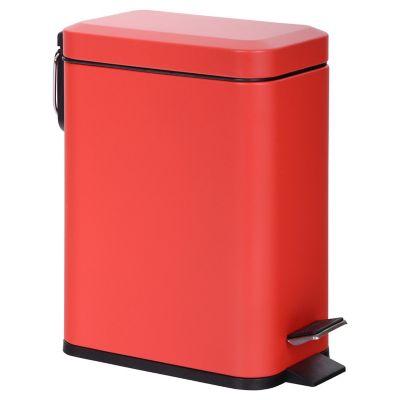 Lixeira com pedal de 6 litros 14,5x29cm Vermelho