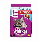 Ração Seca Dry para Gatos Adultos Castrados Sabor Carne 3Kg
